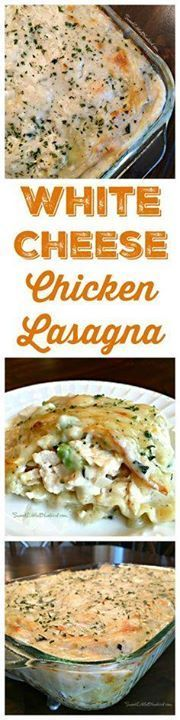 WHITE CHEESE CHICKEN WHITE CHEESE CHICKEN LASAGNA - Three types of white cheese combined with a creamy sauce layered with chicken and spinach (or broccoli) a winning twist to red sauce lasagna! This is comfort food family and friends will love and have them coming back for more! Recipe : http://ift.tt/1hGiZgA And @ItsNutella  http://ift.tt/2v8iUYW  WHITE CHEESE CHICKEN WHITE CHEESE CHICKEN LASAGNA - Three types...
