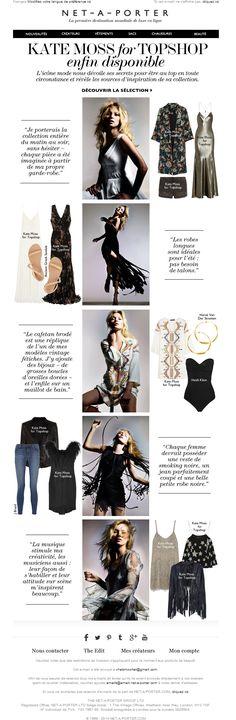 NET-A-PORTER Newsletter   Kate Moss for Topshop