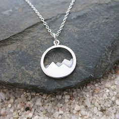 Mountain Necklace Sterling Silver Mountain Range by MahaloSpirit #jjexplores