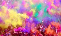 Se acerca la primavera...¡Bienvenid@s al festival del color! ¡Feliz Holi a Tod@s! #primavera #color #freeworldcollection