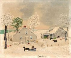 grandma moses winter artwork - - Yahoo Image Search Results