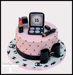 Chanel Makeup cake www.facebook.com/i.love.cuteology.cakes