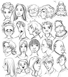 Baby Face Drawing, Face Drawing Reference, Drawing Cartoon Faces, Drawing Heads, Cartoon Sketches, Character Design Disney, Character Design Animation, Character Design References, Character Drawing