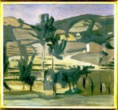Giorgio Morandi - Paesaggio a Grizzana (Landscape at Grizzana), 1942. Oil on canvas, 46.5 x 53.4 cm. Galleria d'Arte Moderna di Palazzo Pitti, Florence, Italy