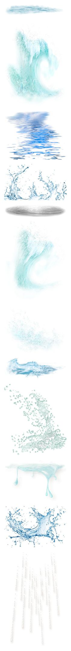 """""""Water, Clouds, Moon"""" by wanda-india-acosta on Polyvore featuring water, backgrounds, ground, collage 2, effect, effects, art, filler, fillers and embellishments"""