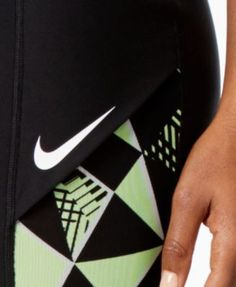 Nike Court Printed Dri-fit Tennis Leggings - Black XL