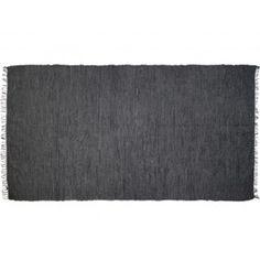 Vloerkleed grijs- zwart leer 175x90, € 44,95