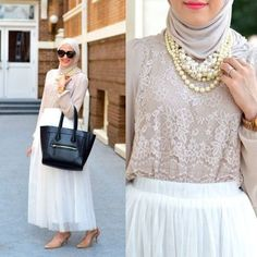 neutral tone hijab outfit, Classy hijab outfits http://www.justtrendygirls.com/classy-hijab-outfits/