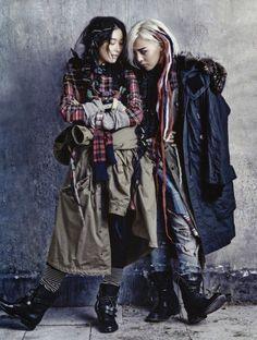 Grungy hobo chic fashion - vogue korea's 'street to street' showcases haute bohemian couture (gallery) Vogue Korea, G Dragon, Hobo Chic Style, Fotografia Macro, Kim Sang, Style Grunge, Jiyong, Vogue Magazine, Grunge Fashion