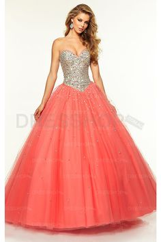 Long Lace-up Tulle Ball Gown Prom Dresses - Quinceanera Dresses - Special Occasion Dresses - Dresshop.com.au