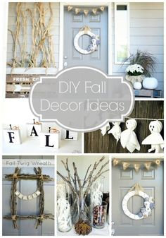 Such cute #FallDecor Ideas!!!  @Taryn {Design, Dining + Diapers}