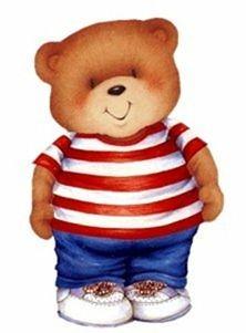 BOY TEDDY BEAR CLIP ART