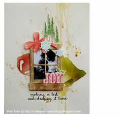 Created by Mou Saha using Tim Holtz dies, and stamps and magnetic platform for Sizzix