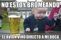 Memes en español de bebés - El avión vino directo a mi boca