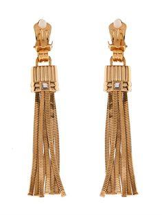 Lanvin Art Deco tassel earrings
