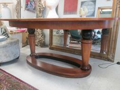 Amazing National Mount Airy Biedermeyer Dining Table with 2 Leaves