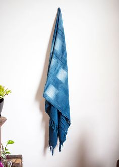 Squares  Handwoven Cotton Natural Indigo Dyed by HonestAlchemyCo, $140.00