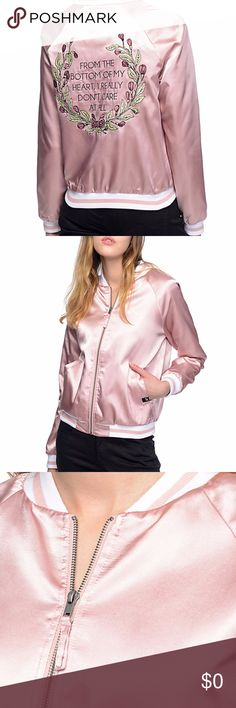 COMING SOON! NWT Jac Vanek Pink Bomber Jacket NWT. Coming Soon! Will be available within the week of 9/18-17-9/22/17. Measurements on request and always open to reasonable offers. Bundle your items and save! Jac Vanek Jackets & Coats Utility Jackets