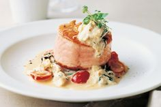 Valentines Day dinner: Salmon Roulade with Crab Sauce
