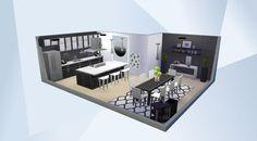 """¡Mira esta habitación en la galería de Los Sims 4! - This is my Modern Luxury Kitchen i have built using """"cool kitchen stuff"""" enjoy! #coolkitchenstuff #modernkitchen #kitchen"""