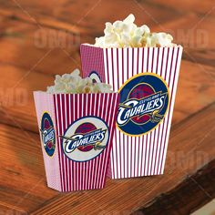 Cleveland Cavaliers Sports Party Popcorn Boxes