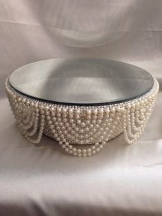 cake stand with pearls to mix with the one with crystals