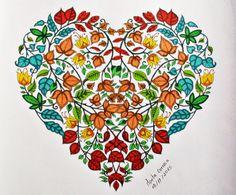 Enchanted Forest / Secret Garden / Leafy Heart / Coloring