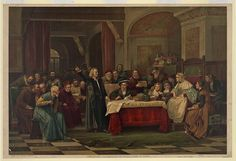 Christopher Columbus at the royal court of Spain