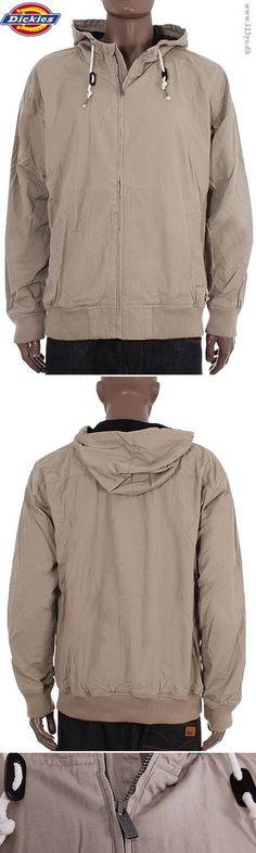 "DICKIES Let jakke i bomuld, model ""Roscoe"" i khaki farve.  www.123yo.dk"