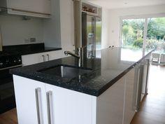 Kitchen Upgrades, Granite Worktops, Blue Pearl Granite, Kitchen Design, Kitchen Paint, Grey Kitchen Designs, Grey Kitchen, Granite, Kitchen