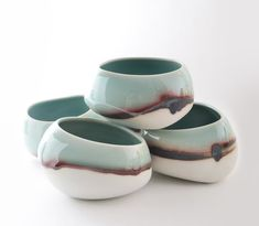 Ceramic pots with interesting glazing