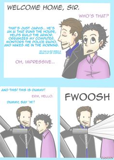 ranixin:    Tony Stark introduces his new science BFF to his old friends.