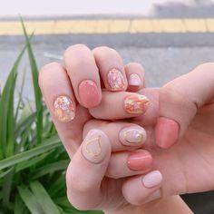 New wedding nails short manicures art designs 39 Ideas Korean Nail Art, Korean Nails, Cute Nails, Pretty Nails, Nail Art Orange, Nail Art Designs, Minx Nails, Short Nails Art, Minimalist Nails