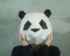 Make Panda Mask,DIY 3D mask,PDF,Pattern mask,Polygon Paper Mask,Template,Printable,Animal Head,Low Poly,Papercraft Face Mask,Costume,Party Pages: 19 Difficulty:medium  What do I get if I buy one of your products?  You will get:  - Instant download file containing mask pattern and instructions - Instructions in English - Help File with illustration of the building steps - Fitting instructions.   Are the masks coloured?  No, our mask patterns are not coloured. You need to glue the patterns on…