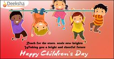 #Deeksha #wishes all a Happy #ChildrensDay!