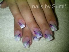 sparkly nails art | tags glitter acrylic french french with purple glitternail nail art