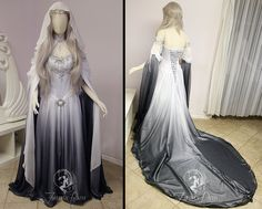 Silver Shadow Elven Gown (sleeve view) by Firefly-Path Vestido Silver Shadow Elven (vista da manga) por Firefly-Path Pretty Outfits, Pretty Dresses, Beautiful Outfits, Fantasy Gowns, Fairy Dress, Medieval Dress, Dream Dress, Costume Design, Designer Dresses
