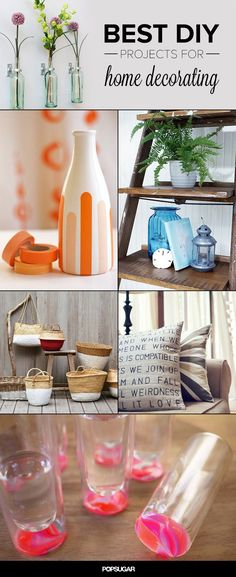 Best DIY Projects For Home Decorating: I love all of these. Cannot wait to start!