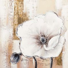 New Life Collection - Blossom dream in white 3 - hand crafted reproduction