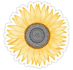 Golden mandala sunflower • Also buy this artwork on stickers, apparel, phone cases, and more.