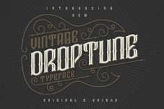 Droptune typeface from FontBundles.net
