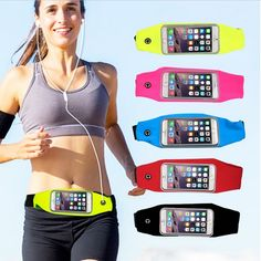 Otudoor Sport Running Pack Waist Pouch Waterproof Case for 3C Cell Phone fit iPhone 6/6S Plus/Samsung Galaxy S5/S6/S7/Note 5/LG