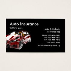 201 best auto insurance business cards images on pinterest in 2018 auto insurance business card reheart Choice Image