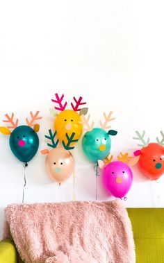 5 Fun, Colourful Kids Christmas Crafts - Petit & Small - creative crafts and activities for kids to celebrate the Christmas holiday. Kids Crafts, Christmas Crafts For Kids, Christmas Activities, Diy Craft Projects, Creative Crafts, Holiday Crafts, Christmas Decorations, Christmas Balloons, Craft Ideas