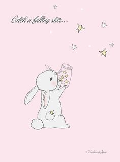 Kawaii *-* shared by かわいい女の子 on We Heart It Tatty Teddy, Dainty Doll, Falling Stars, Bunny Art, Cute Illustration, Nursery Art, Cute Art, Whimsical, Cute Animals