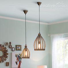 Embossed Antique Metal Pendant Lamp ★ Creative Co-Op Home