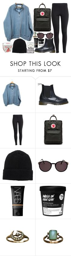 """""""just change it"""" by velvet-ears ❤ liked on Polyvore featuring Dr. Martens, H&M, Fjällräven, Monki, American Apparel, NARS Cosmetics and Cameo"""