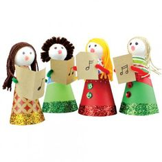 A great kids craft activity - Christmas Decofoam Carollers - CleverPatch