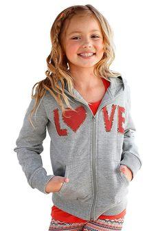 Produkttyp , Sweatjacke, |Materialzusammensetzung , Obermaterial: 50% Baumwolle, 50% Polyester, |Material , Sweat, |Farbe , Grau-Meliert, |Passform , Taillierte Form, |Schnittform/Länge , hüftlang, |Ausschnitt , Kapuze, |Kapuze , Jerseyfutter farbig passend, |Verschlussart , Reißverschluss, |Ärmelstil , Langarm, |Armabschluss , Bündchen, |Saumabschluss , Bündchen, |Applikationen , Druck, Paille...