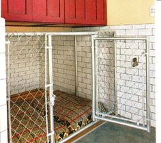 Thinking we could build a kennel in the garage with a doggy door to outside, for future winters???